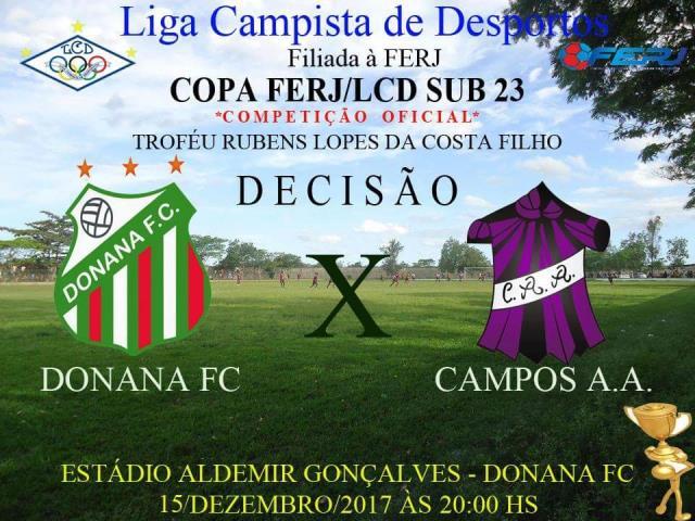 Donana e Campos disputam a final da Copa FERJ/LCD Sub-23