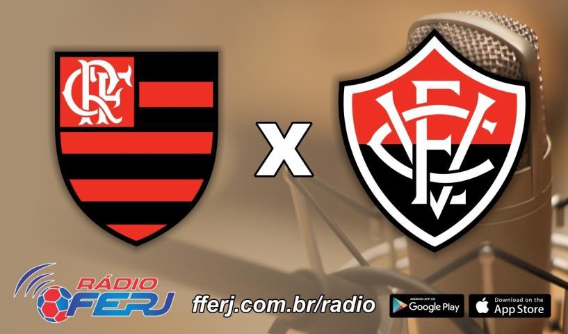 Rádio FERJ transmite Flamengo x Vitória