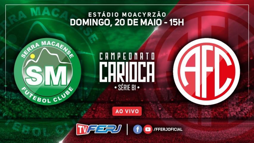 TV FERJ transmite Serra Macaense x America, pela Série B1 Estadual