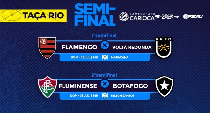 Definidas as semifinais da Taça Rio