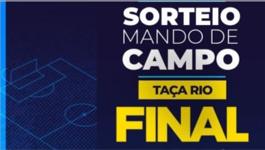 Sorteio do Mando da final da Taça Rio será nesta segunda-feira (06/07)